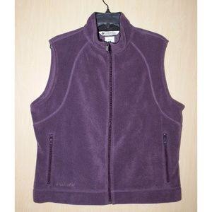 COLUMBIA Purple Fleece Vest